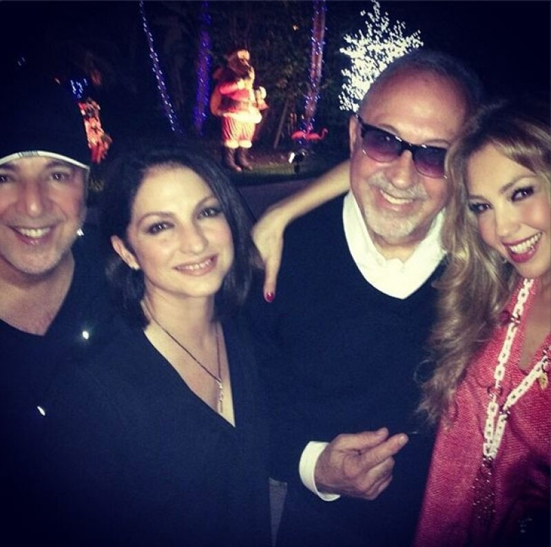 La cantante mexicana y su esposo pasaron una increíble noche en compañía de sus grandes amigos: Lili, Gloria y Emilio.