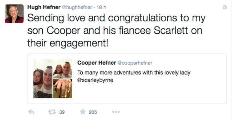 El millonario no dudó en felicitar alegremente a sus hijo.