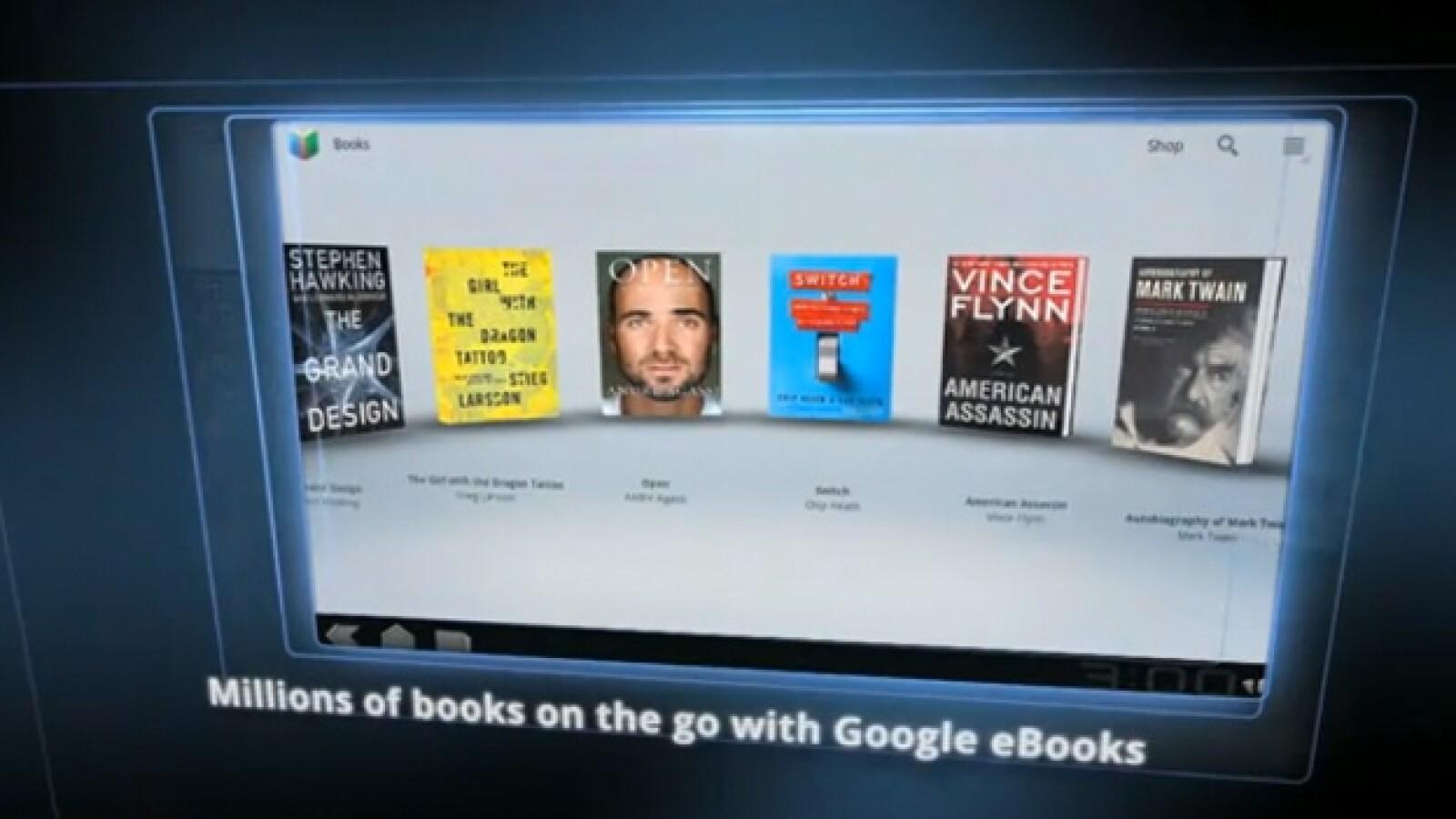 tablet google texto book e-book