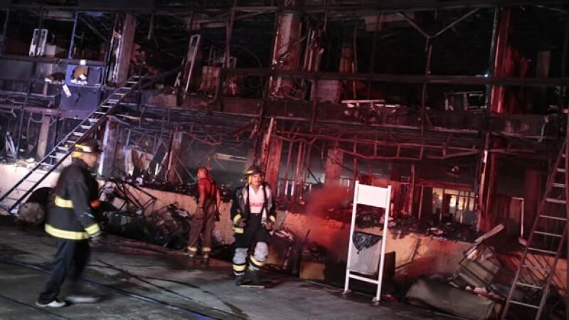 Diversas secciones del Palacio de Gobierno de Guerrero fueron quemadas por manifestantes