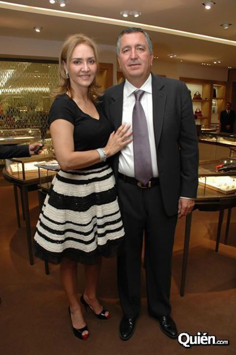 La pareja en la inauguración de Cartier.