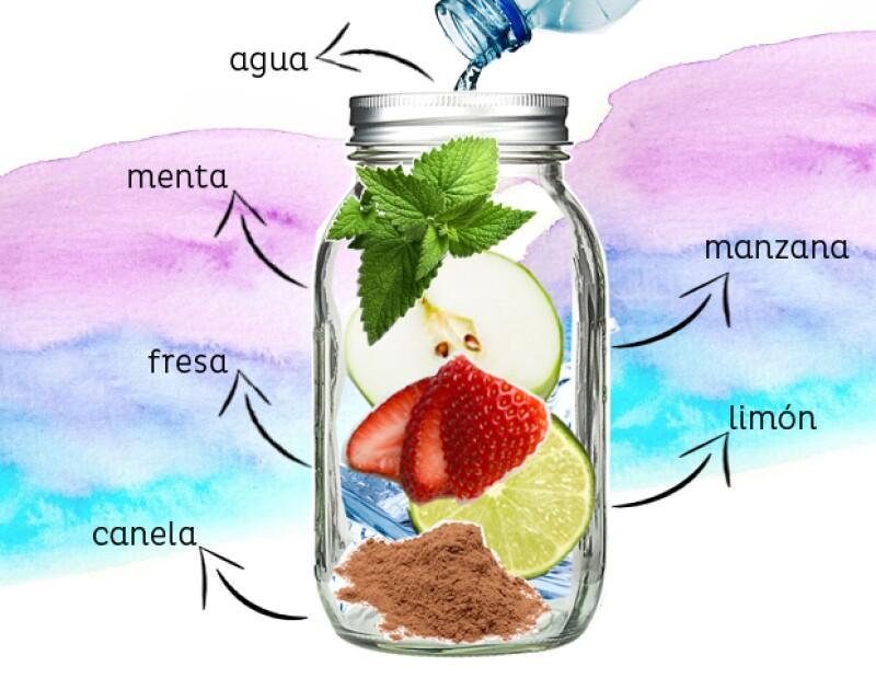 Infusión de limón, fresa y manzana.