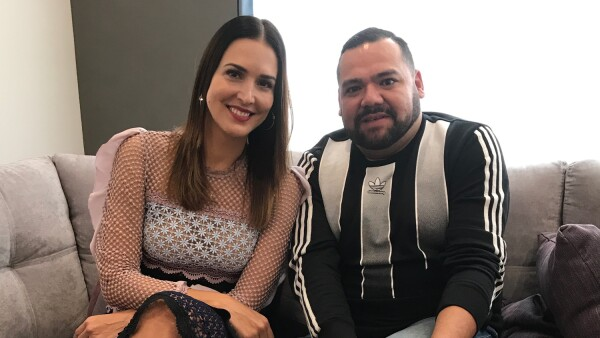Mô Almada con Benito Santos