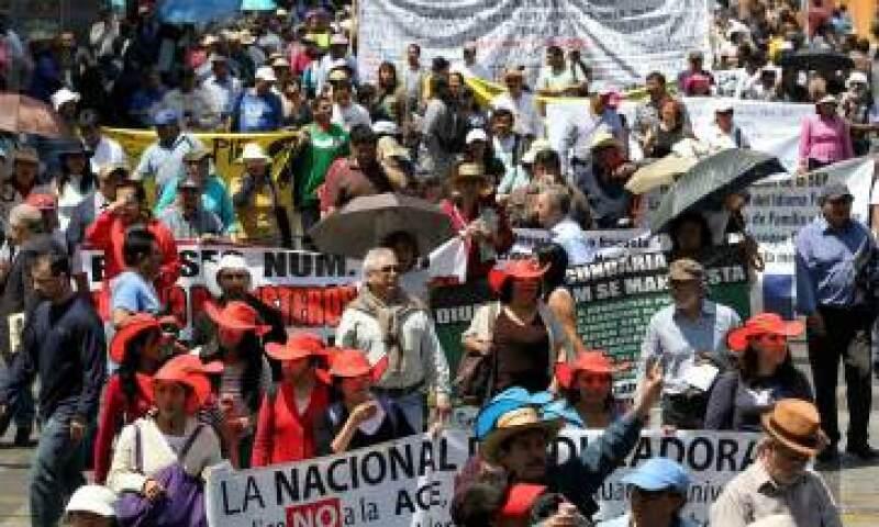 La Coparmex considera que las manifestaciones magisteriales atentan contra el artículo tercero constitucional que garantiza el derecho que tienen los niños de recibir educación. (Foto: Notimex)
