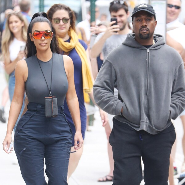 Kim Kardashian and Kanye West out and about, New York, USA - 15 Jun 2018