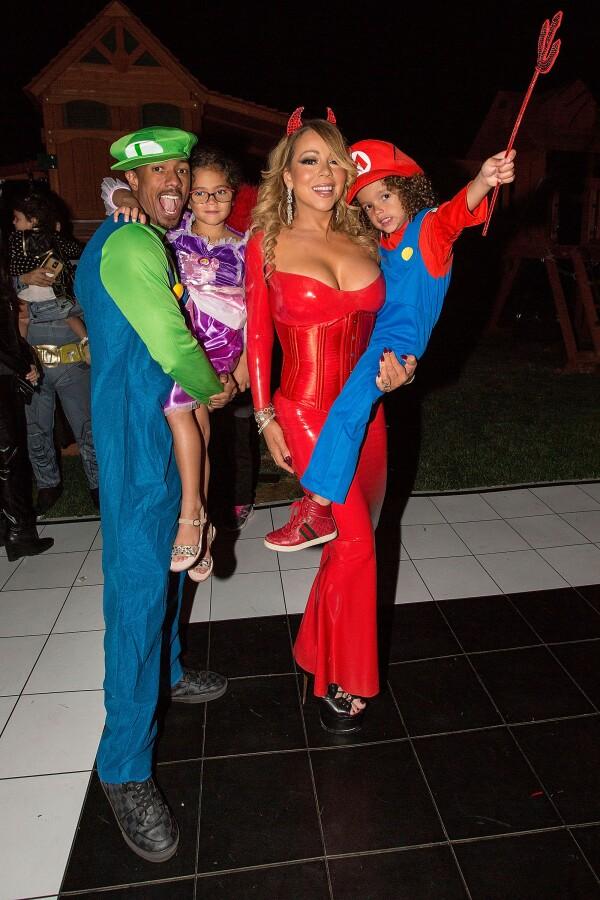 Nick Cannon, sus hijos y Mariah Carey