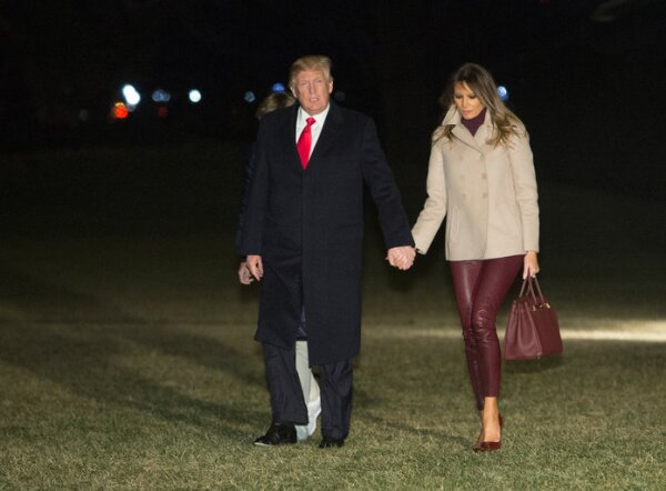 President Trump And First Lady Melania Return To White House After Holidays