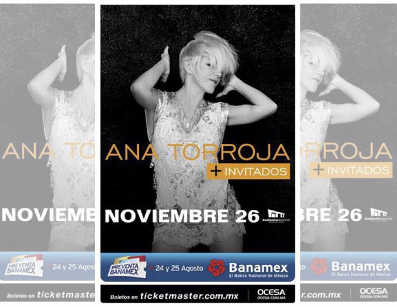 Ana se presentará en la capital mexicana el 26 de noviembre.
