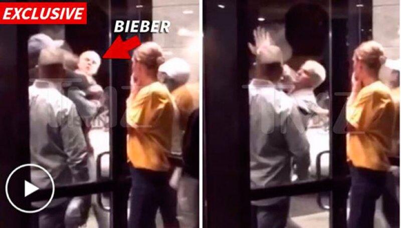 Un video del cantante peleando con un hombre mucho más corpulento que él ha comenzado a circular, luego del partido de anoche entre Cleveland Cavaliers y Golden State Warriors.