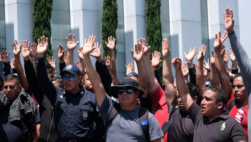 Policías federales protesta