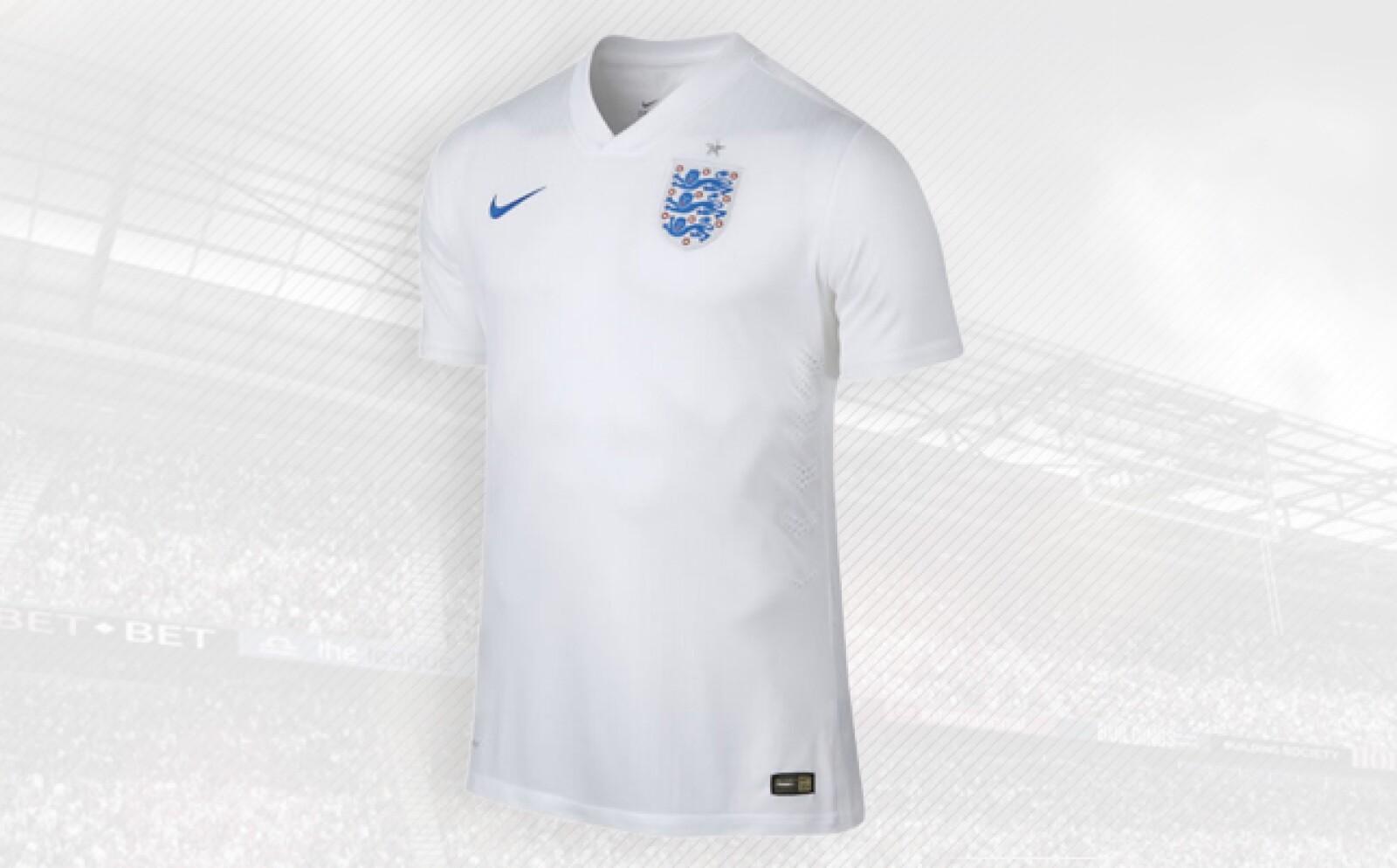 La estadounidense Nike diseñó la playera basándose en la historia y cultura del futbol inglés.