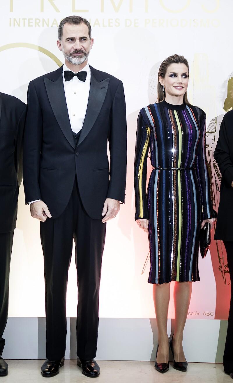 Letizia vestido de lentejuelas