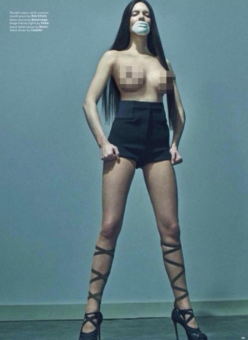 ¡Hazte a un lado Kim! Las nuevas imágenes de Kendall para Love Magazine conmocionan por el gran aumento de sus atributos.