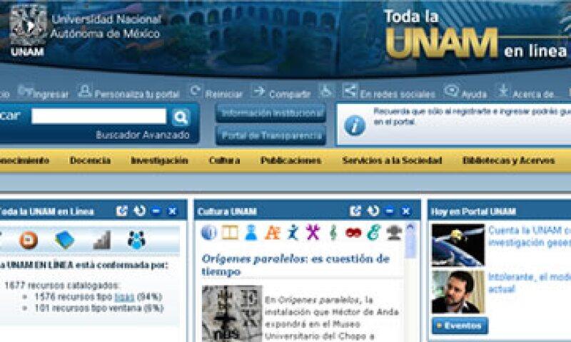 En el sitio web, los interesados podrán estar en contacto con profesores e investigadores de la UNAM. (Foto: Sitio de la UNAM)