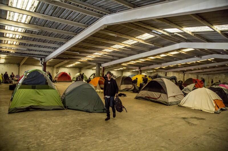 Migrantes centroamericanos EU Tijuana