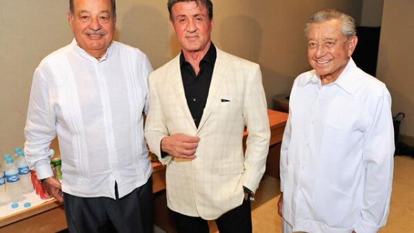 Carlos Slim Helú, Sylvester Stallone, Miguel Alemán