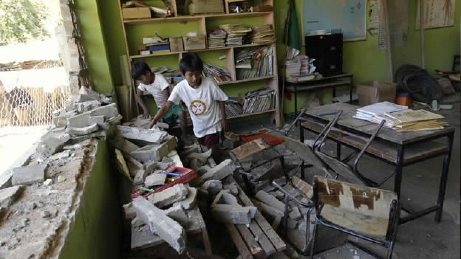 ometepec, guerrero, terremoto, temblor, daños, escuela, desastre natural