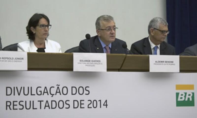 Integrantes de Petrobras dieron a conocer los resultados de la petrolera en sus instalaciones de Río de Janeiro. (Foto: AFP )