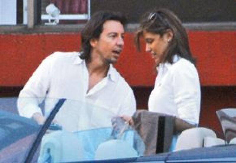 Asensi y Michelle en julio de 2008, a cuatro meses de haberse destapado la relación.
