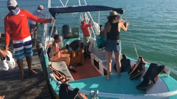 Tiburón ballena, la esperanza ante la pandemia de la Isla Holbox en México