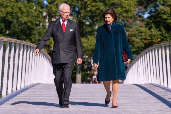Rey Carlos XVI y la reina Silvia