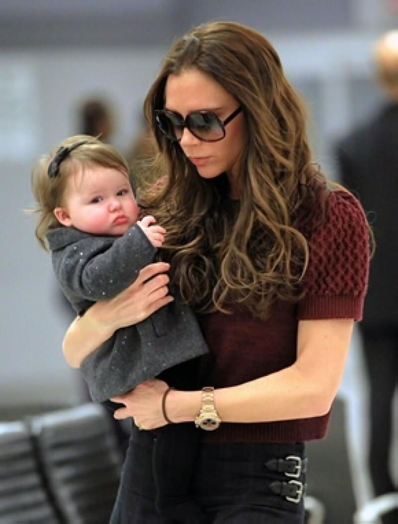 Así es, la hija de David y Victoria a penas tiene nueve meses de edad pero una marca ya la está buscando para que sea su imagen.