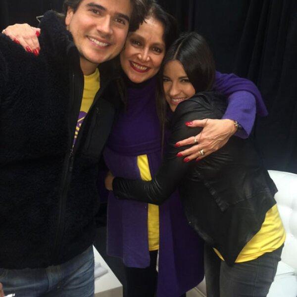 Daniel Arenas, Daniela Romo y Maite Perroni.