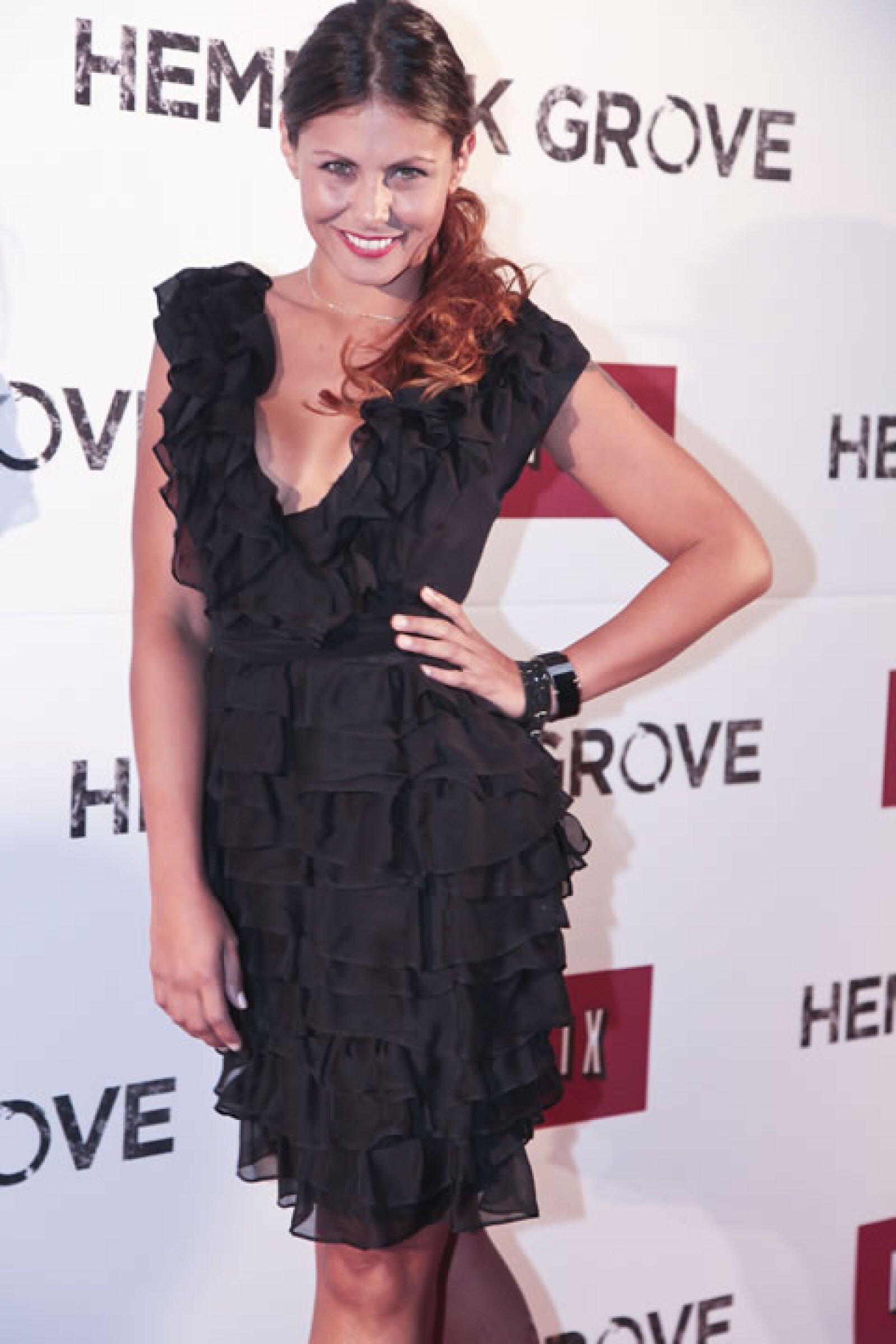 Amanda Rosa En H guapos en el coctel por lanzamiento de `hemlock grove´