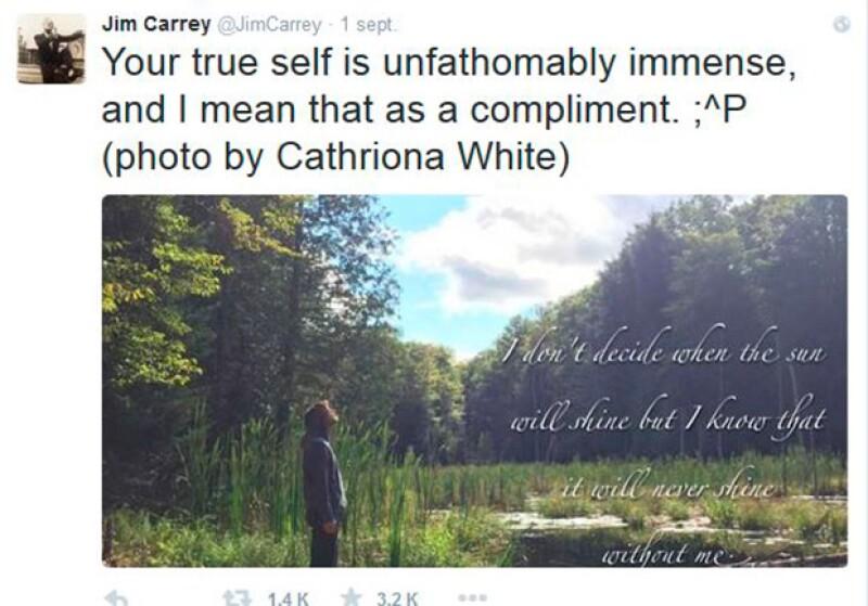 Con frecuencia el actor publicaba reflexiones, esta viene acompañada de una fotografía de Cathriona.