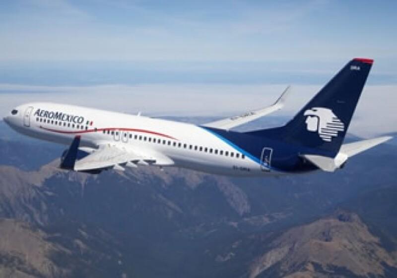 Aeroméxico espera registrar un crecimiento de entre 5 y 6% anual este año. (Foto: Cortesía Aeroméxico)