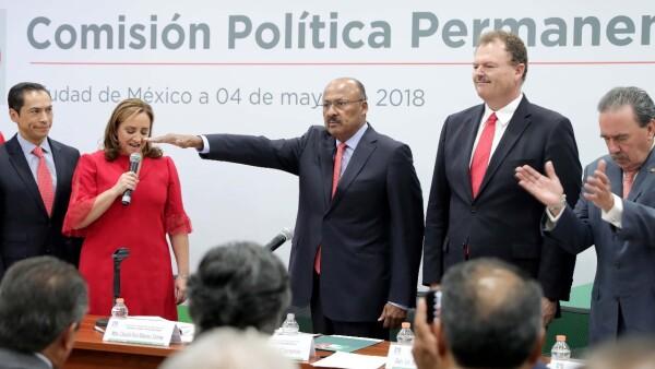 René Juárez Cisneros toma protesta como presidente del PRI