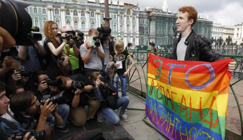 Rusia ley anti-gay protesta