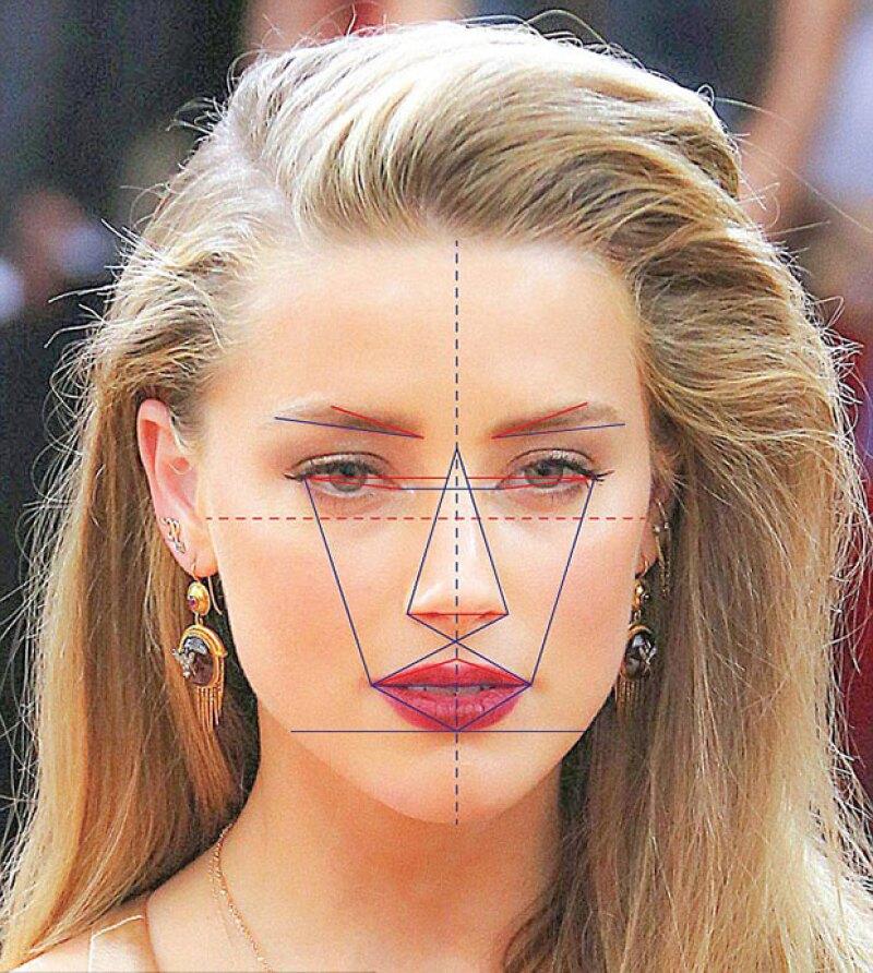 """Amber Heard, Kim Kardashian y Kate Moss tienen las caras más cercanas a la perfección. Aquí te explicamos cómo se """"calcula la belleza""""."""