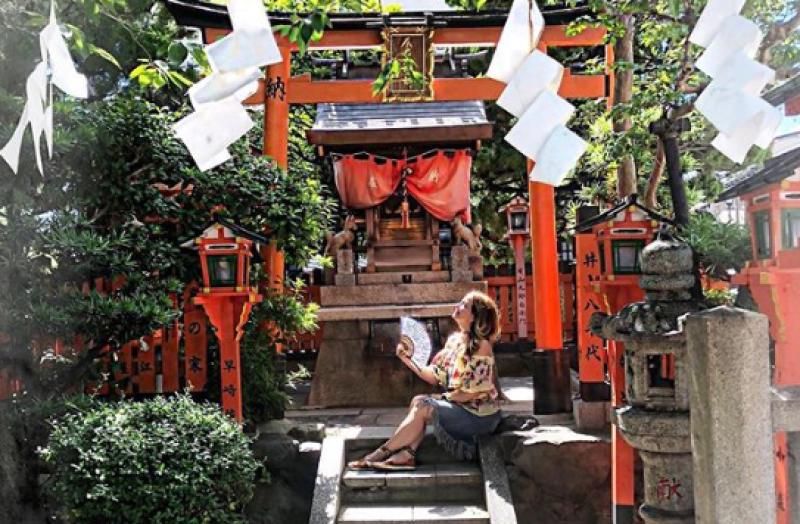 Andrea Legarreta viaja a Japón