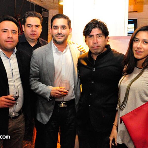 Victor Ortega,Ruysdael Vivanco,Ramíro Dávila,Pepe Moyao y Fernanda Reynoso