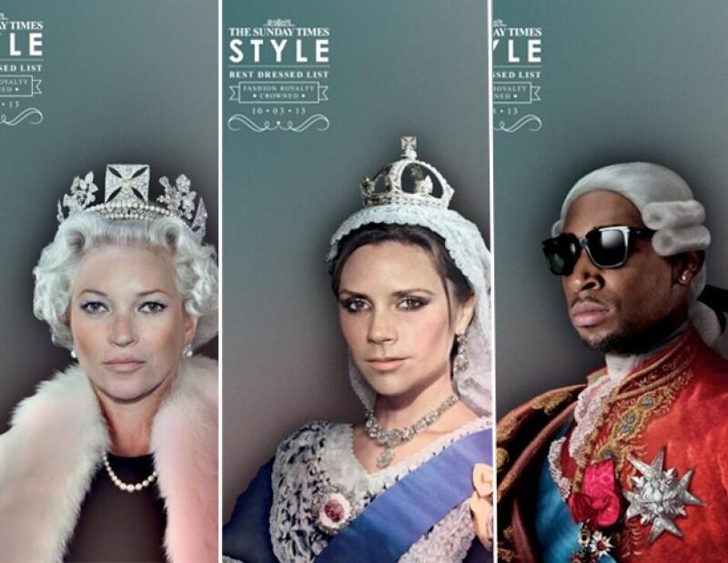 La revista Style de The Sunday Times eligió a las personalidades mejor vestidas del 2013 y, literal, les montó la corona, pues puso sus rostros sobre los cuerpos de emblemáticos miembros de la realeza