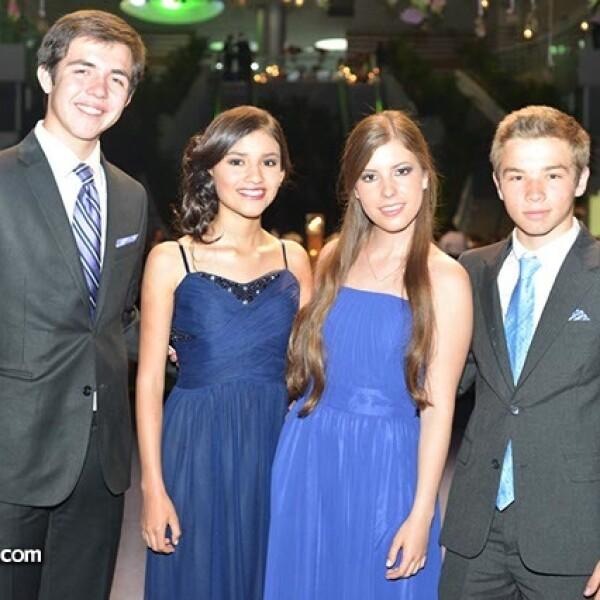 Guillermo Martínez,Sofía Ledezma,Ana Paula Leal y Alberto Guajardo.