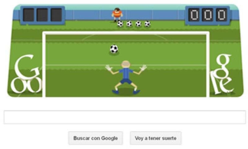 Google ha cambiado su buscador por juegos de futbol o basketball para rendir homenaje a los Juegos Olímpicos.  (Foto tomada de Google.com)