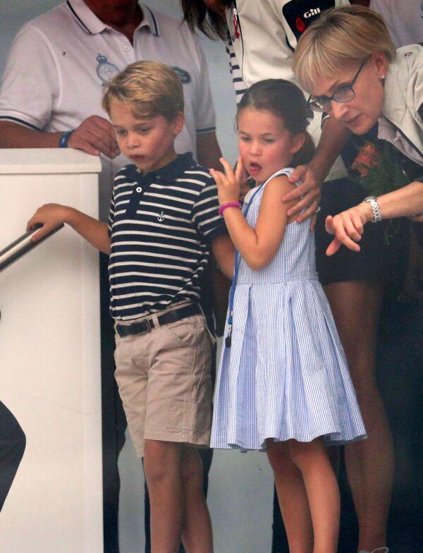 Princesa Charlotte y el príncipe George