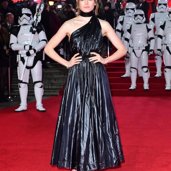Daisy Ridley en la premiere de Star Wars: The Last Jedi