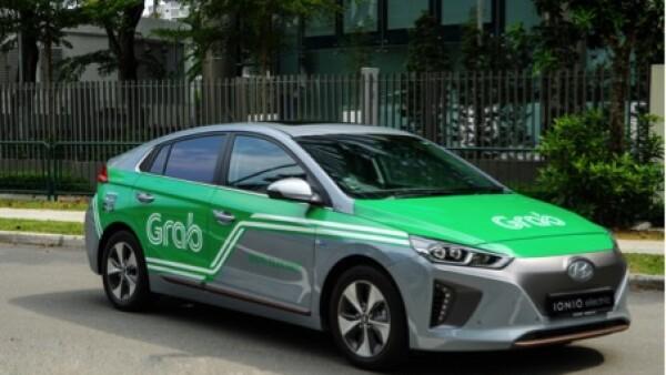 autom�vil de la empresa de transporte Grab Holdings