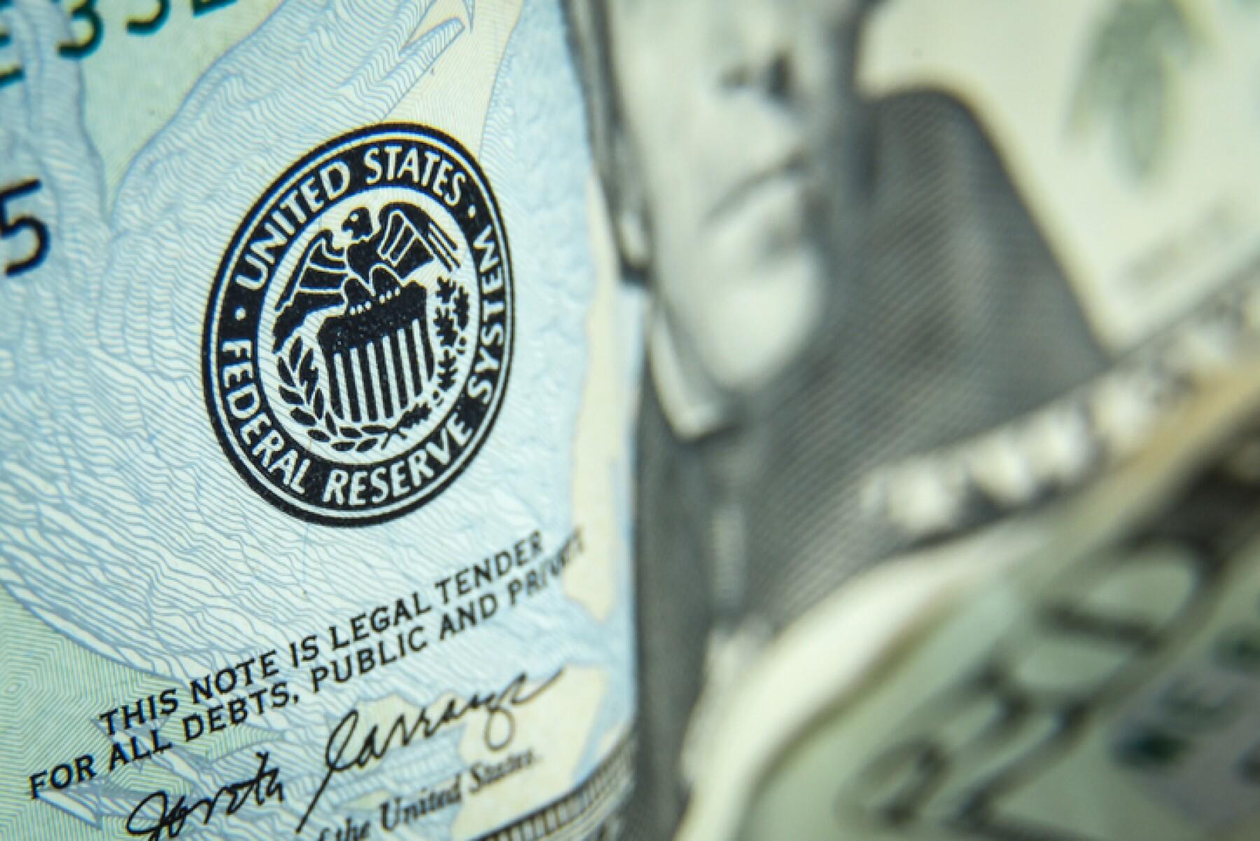 Twenty dollars bills - close up and reflection of US paper money