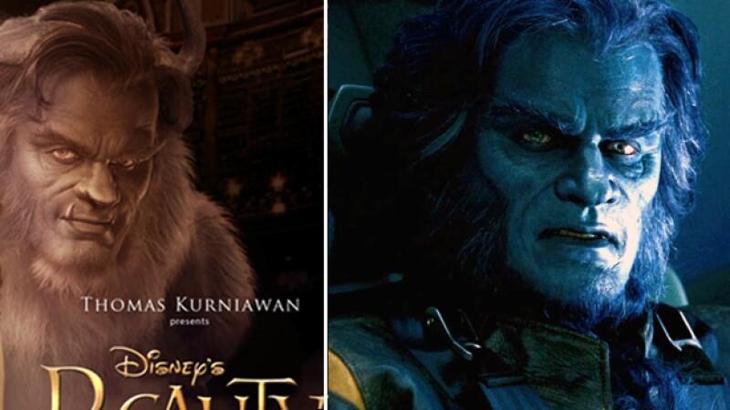 Ambos interpretan a Bestia, con la excepción de que uno es parte del mundo de los superhéroes y otro de cuento de hadas.