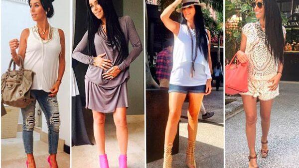 La guapa conductora de televisión luce una pancita apenas notoria, manteniendo su estilo de embarazo tan chic como siempre.