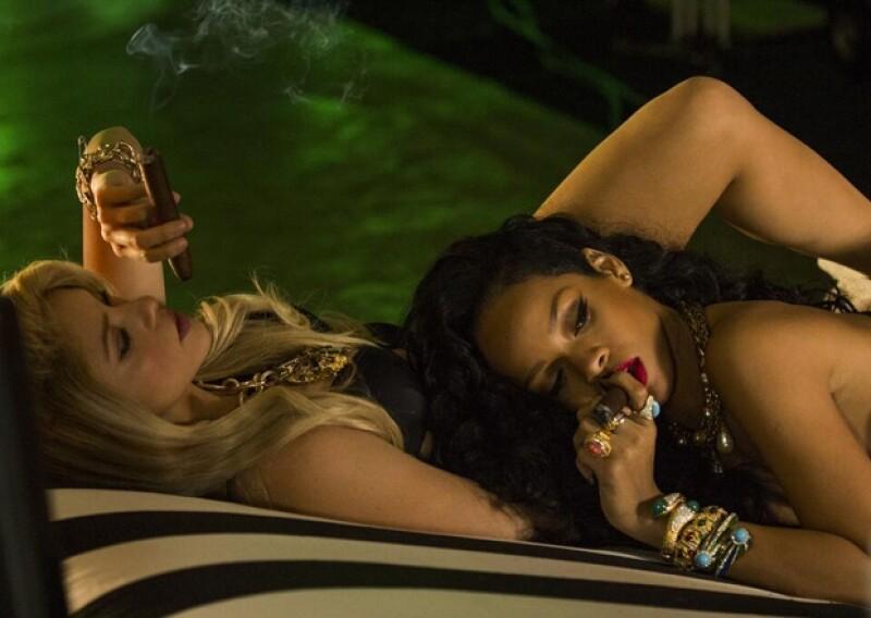 La colombiana y la barbadense estrenarán su video esta noche en YouTube, pero antes, un adelanto de  cómo trabajaron juntas para conjuntar su sensualidad en un solo clip.