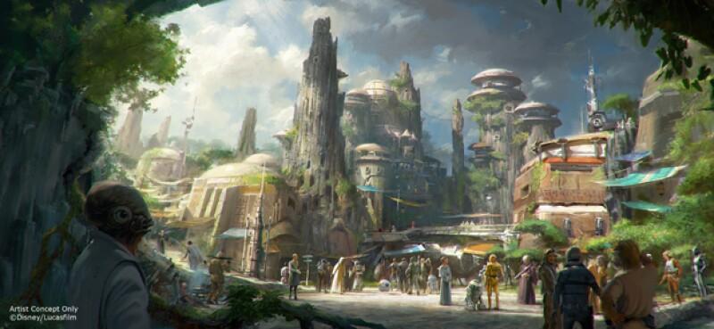 Star Wars Land se extenderá a lo largo de 14 acres.
