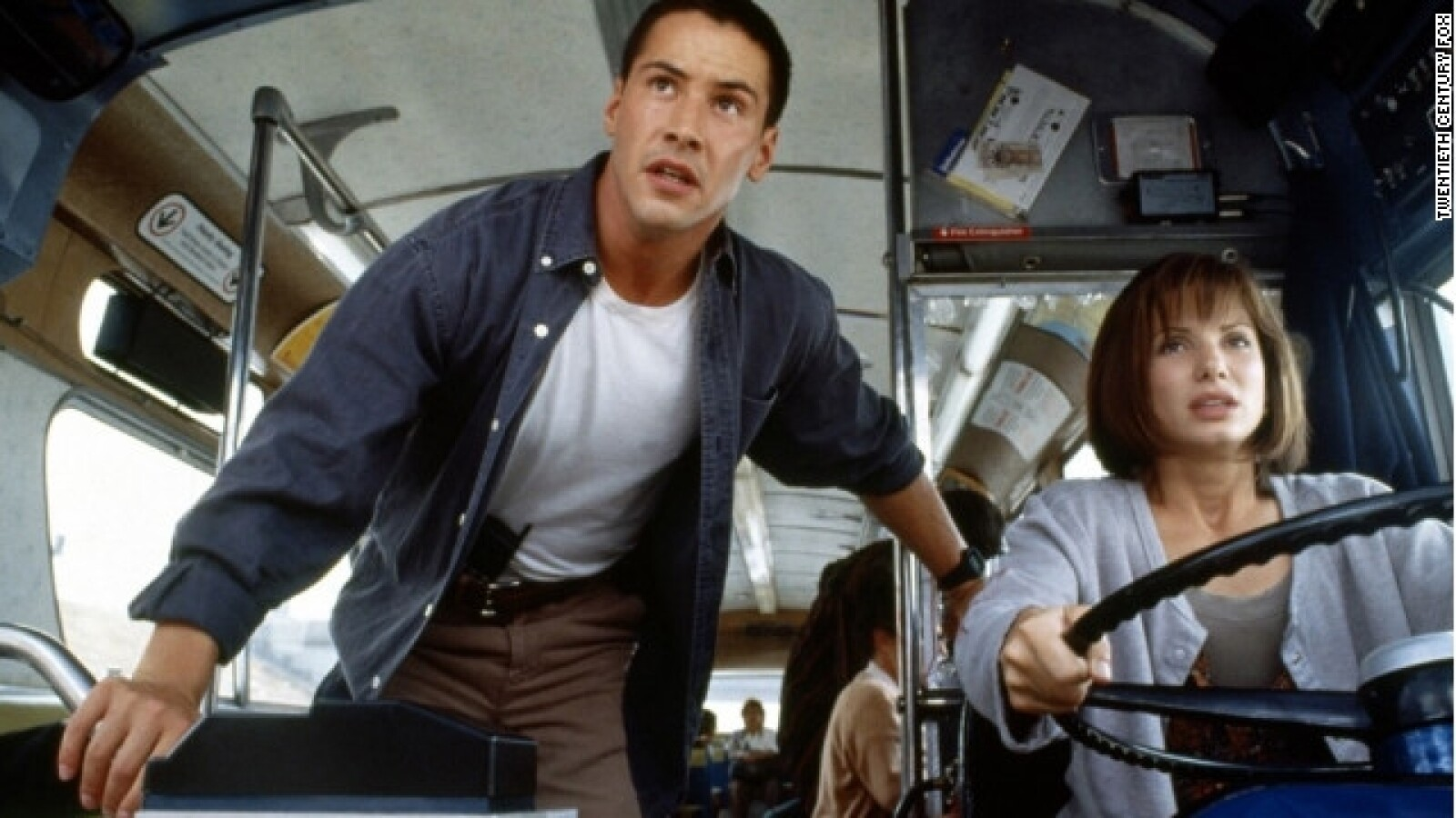 Keanu Reeves y Sandra Bullock