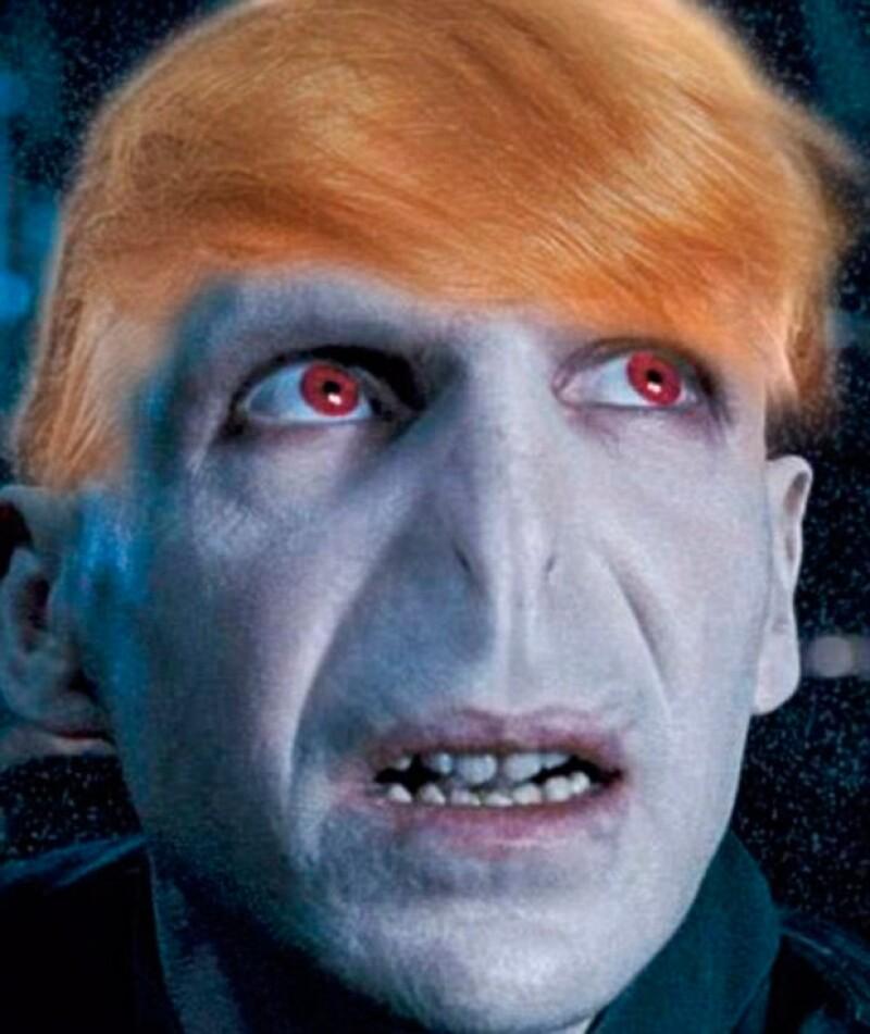 Posteriormente comenzaron a surgir memes de Voldemort como Donald Trump.