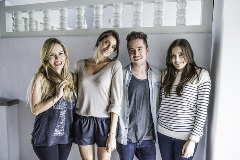 Cassandra de la Vega, Mariana Padilla, Álvaro Valdez y Sofía Lascurain.