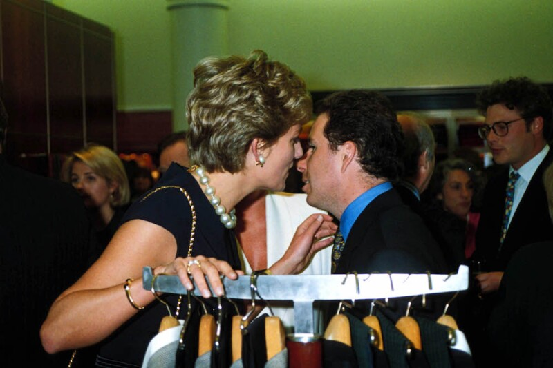 Princess Diana With Lord Linley At The Alfred Dunhill Cigar Shop Promotion In Mayfair 05, 25, 1994